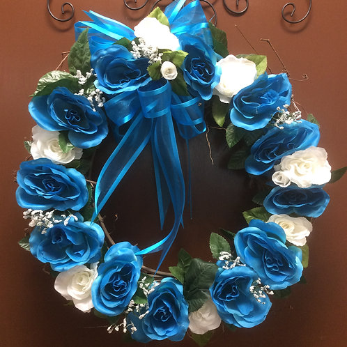 Blue Rose Wreath
