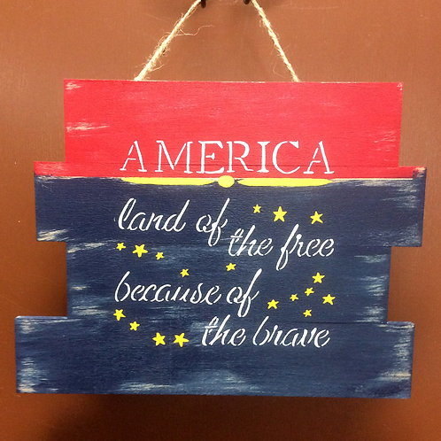 America Land of the Free Sign