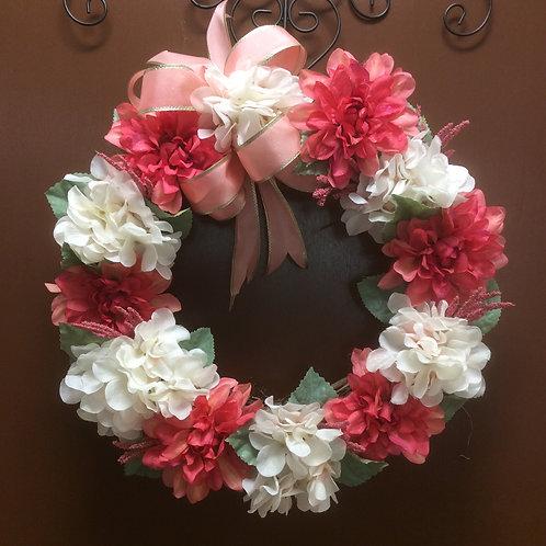 Dark Peach and Cream Wreath