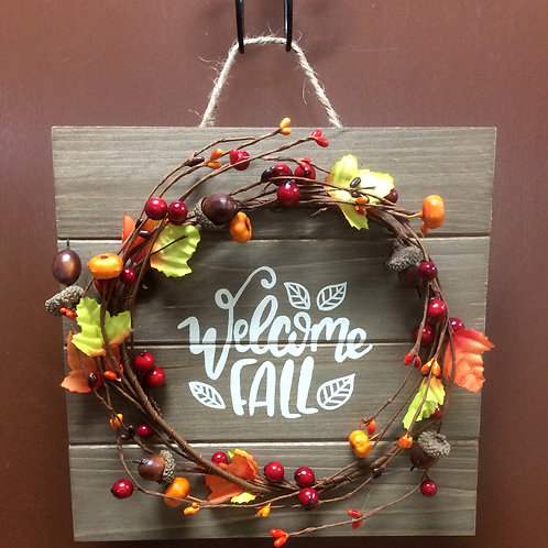 Welcome Fall Plaque