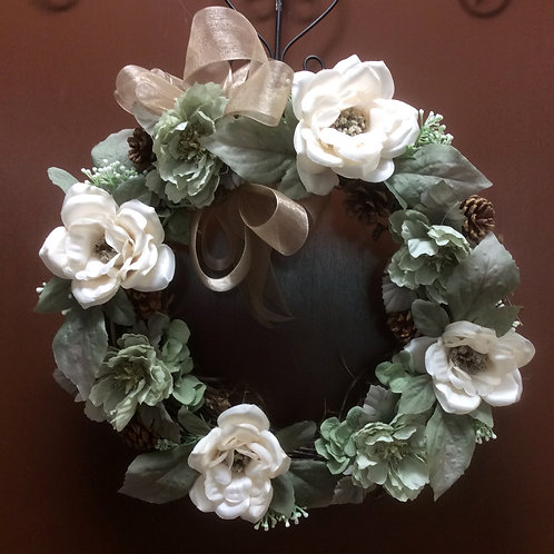 Seafoam and Cream Wreath