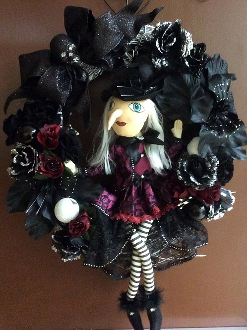 Sparkly Witch Wreath