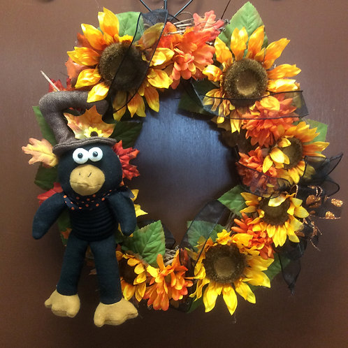 Fall Crow Wreath