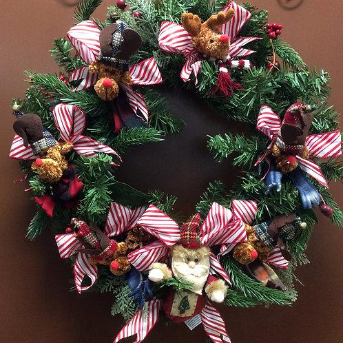 Santa and his Reindeer Wreath