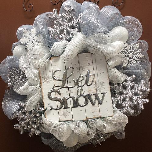 LetIt Snow LIght Up Wreath