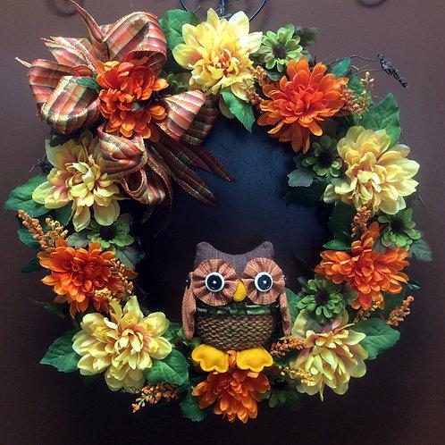 Fall Owl Wreath