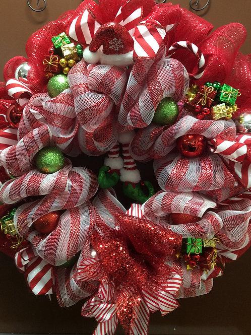 Festive Elf Wreath