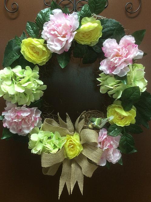 Pastel Bird Wreath