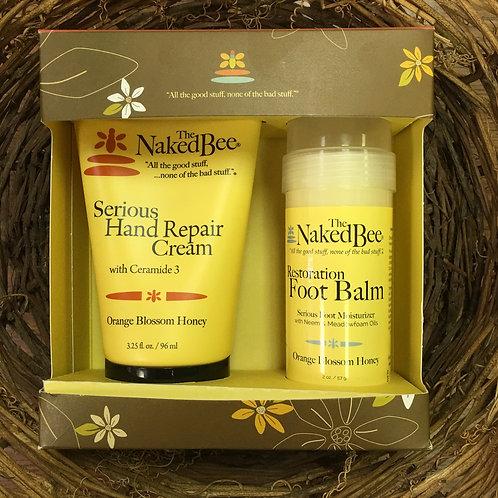 Naked Bee Hand Repair Creme & Foot Balm Gift Box