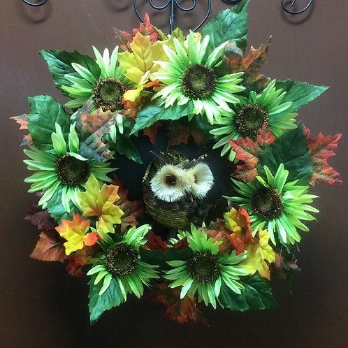 Small Owl Wreath