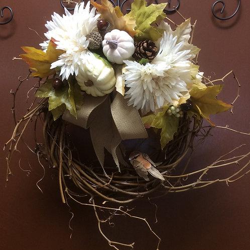 Earthtone Bird Wreath