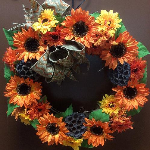 Orange SunflowerWreath