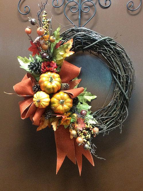 Autumn Pumpkins Wreath