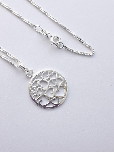 Round Hearts Pendant Necklace