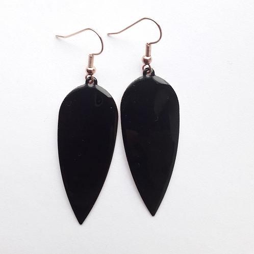 Black Dagger Drop Earrings