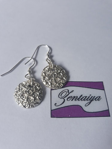 Rose Disc Earrings