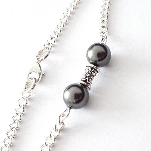 Swarovski Black Pearl Chain Bracelet