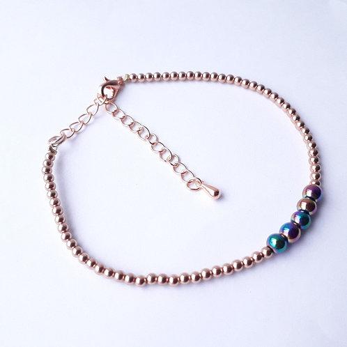 Hematite and Rose Gold Bracelet