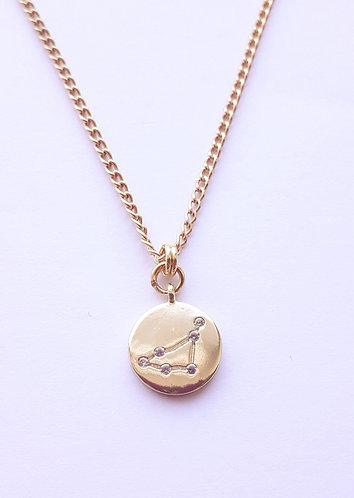 Gold Capricorn Charm Necklace