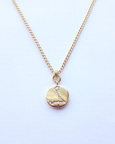 Gold Pisces Charm Necklace