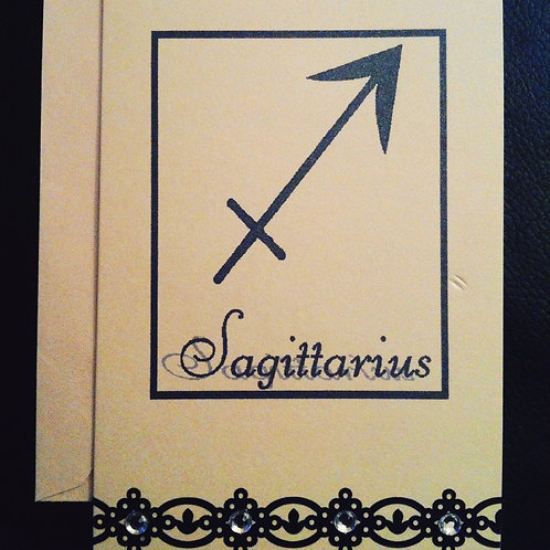 Sagittarius Greetings Card