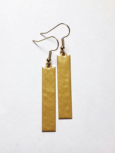 Gold Dangle Strip Earrings