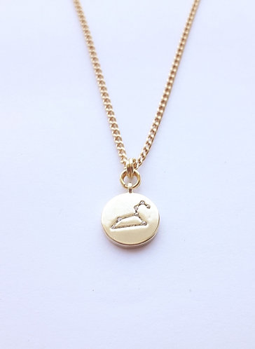 Gold Leo Charm Necklace