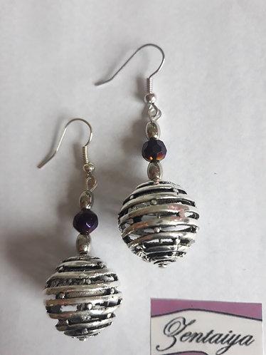 Spiral Ball Earrings