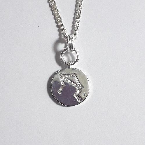 Libra Constellation Charm Necklace