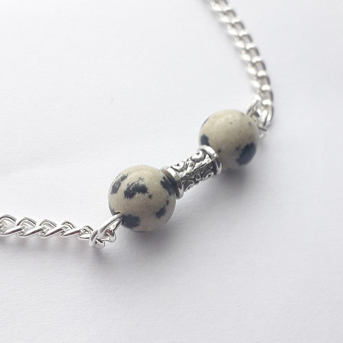 Dalmation Bead Chain Bracelet