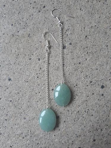 Aventurine Chain Dangle Earrings
