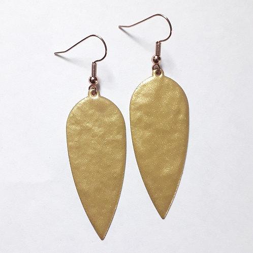 Gold Dagger Drop Earrings