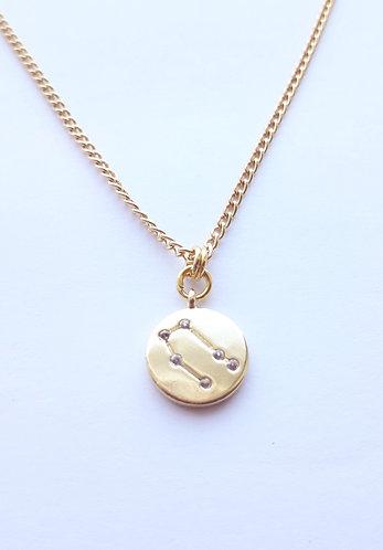 Gold Gemini Charm Necklace