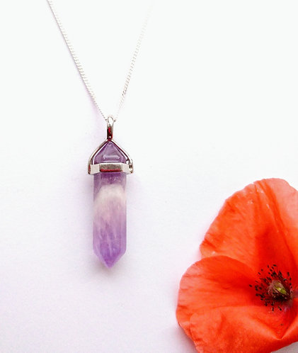 Amethyst Pendulum Point Necklace