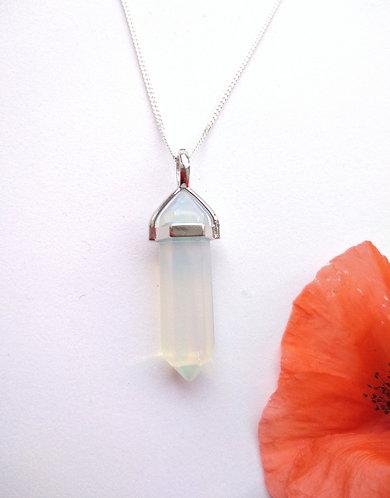 Opalite Pendulum Point Necklace