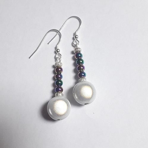 Hematite Miracle Bead Earrings