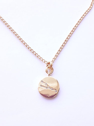 Gold Taurus Charm Necklace