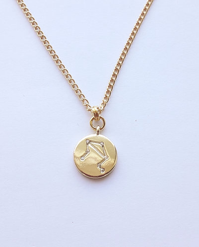 Gold Libra Charm Necklace