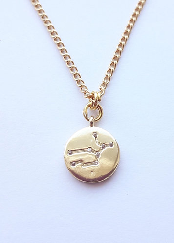 Gold Virgo Charm Necklace