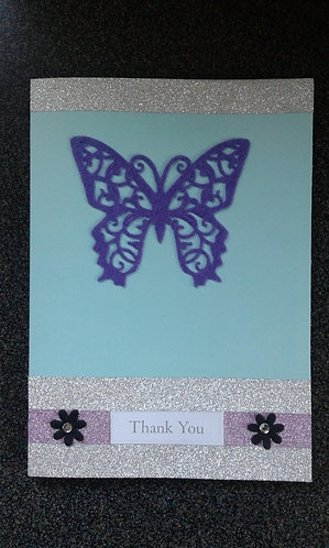 Butterfly 'Thank You' Greetings Card