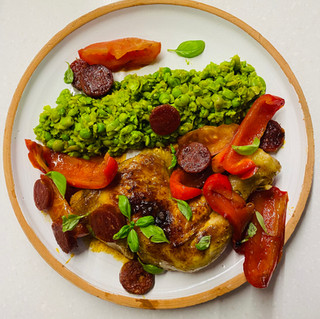 Smokey Chorizo Chicken & Pea Mash
