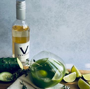 Lemon Thyme, Cucumber and lime Verjuice Mocktail