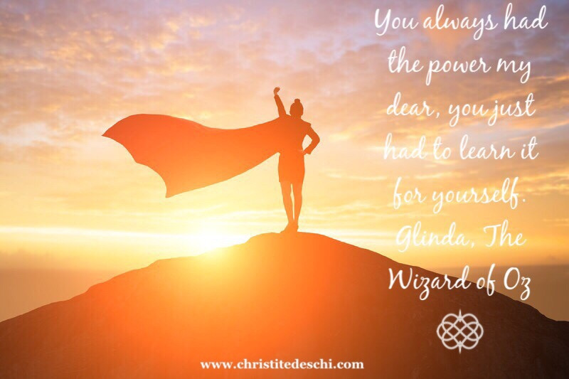 You have the power within you.