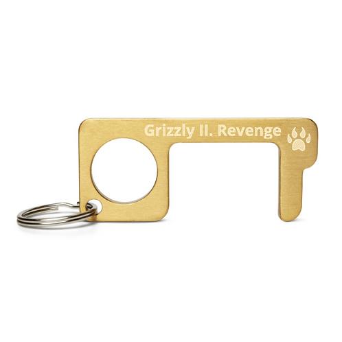 Grizzly II. Revenge Brass Keychain