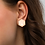 Thumbnail: Sterling Silver Hexagon Stud Earrings