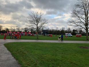 Santa Dash in Victoria Park