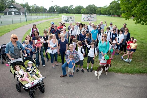 Campaigners in Victoria Park