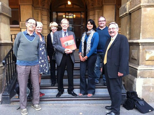 Campaigners outside the Town Hall