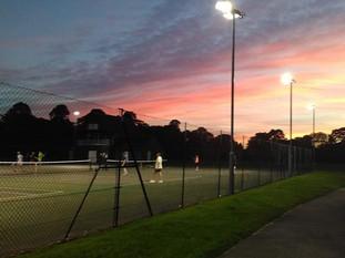 Tennis courts in Victoria Park