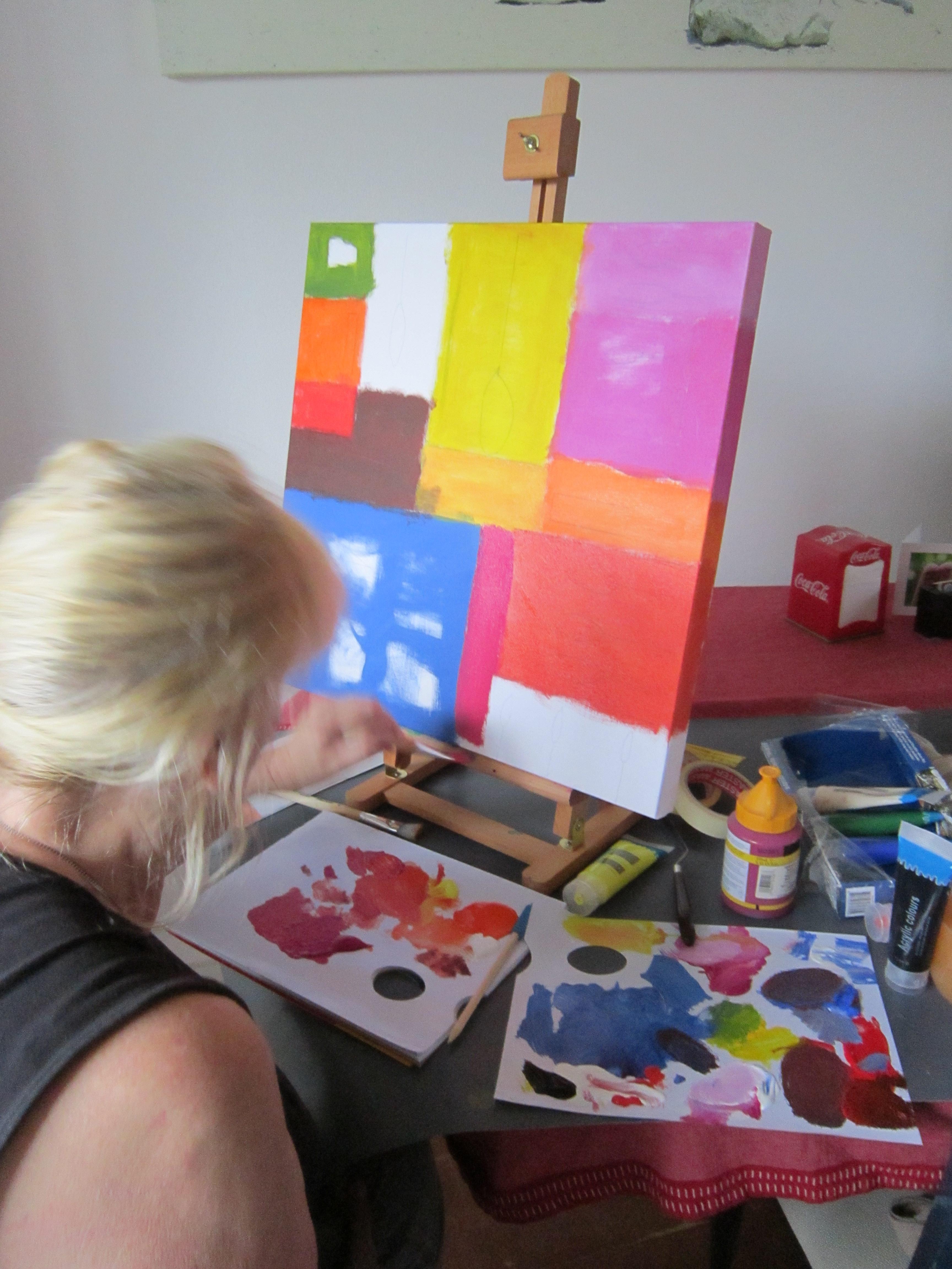 Workshop schilderen met acrylverf